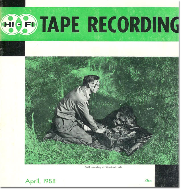 1958 April Tape Recorder magazine cover  in the Reel2ReelTexas.com's vintage recording collection