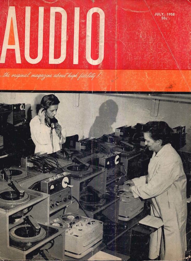 1958 cover of the July issue of Audio Engineering