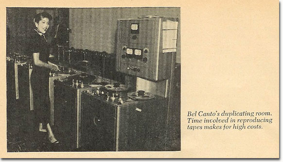 Bel Canto tape facilities from 1958