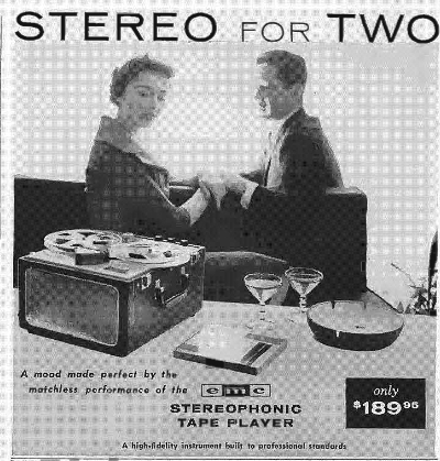 1958 ad for EMC reel tape recorder in PPI's vintage tape recorder collection