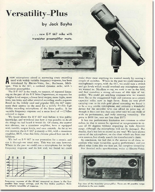1958 Electro Voice 667 microphone review
