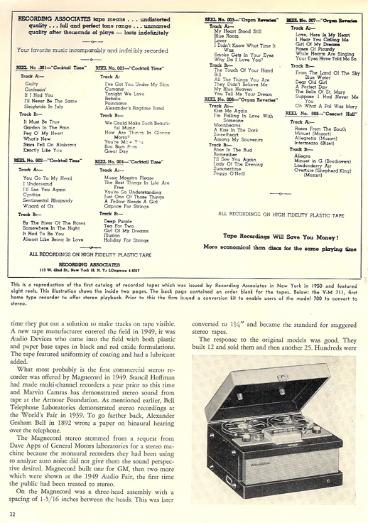 History of reel to reel tape recording up to 1958 page 12