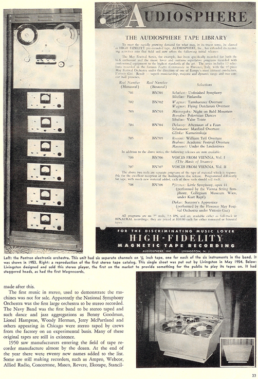 History of reel to reel tape recording up to 1958 page 13