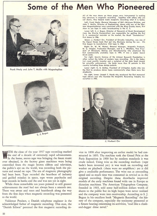 History of reel to reel tape recording up to 1958 page 2