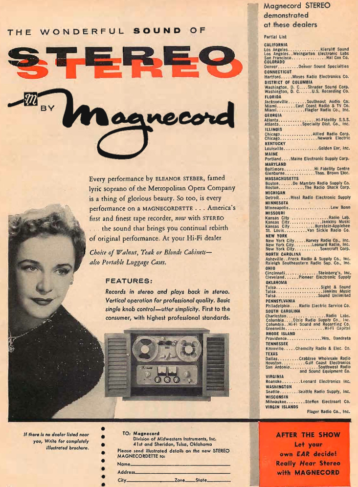 1958 Magnecord Magnecordette reel tape recorder in Reel2ReelTexas.com's vintage recording collection