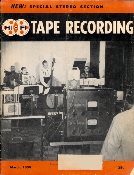 Cover of the March 1958 Tape Recording magazine in Reel2ReelTexas.com's vintage recording collection