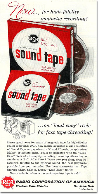 RCA magnetic recording tape ad