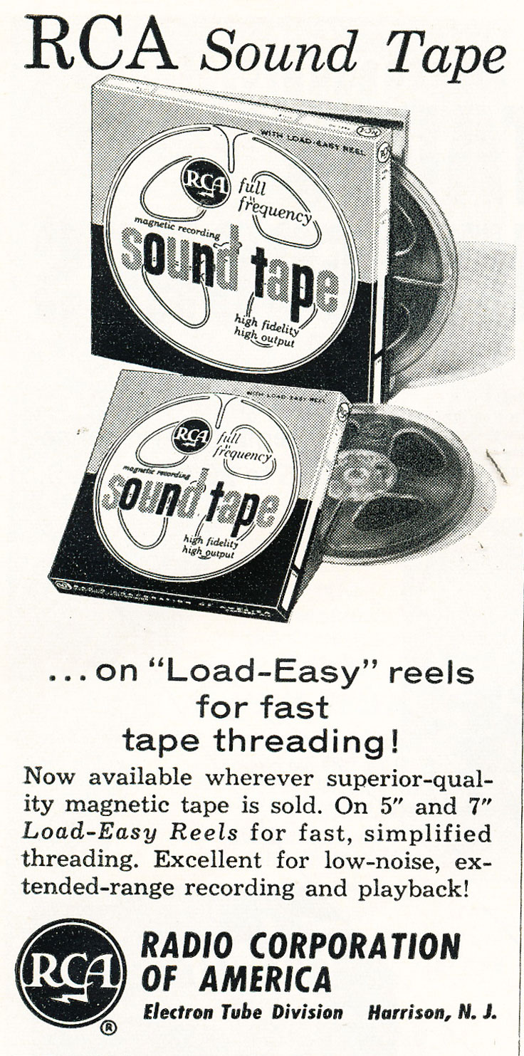 1958 ad for RCA reel to reel recording tape in   Reel2ReelTexas.com's vintage recording collection