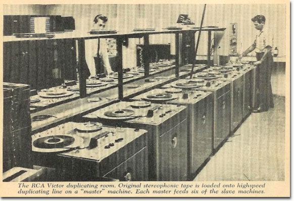 RCA recording tape duplication room  from 1958