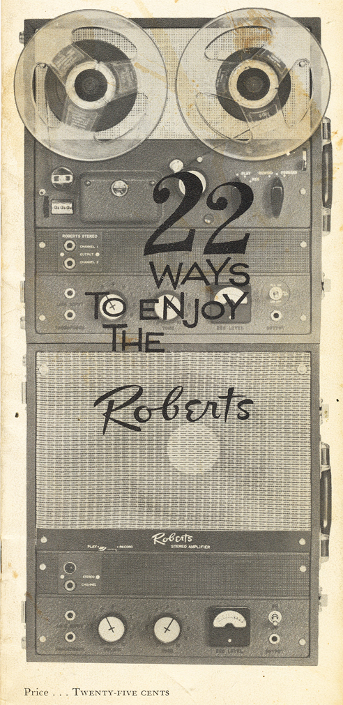 1958 Roberts 90C brochure in Reel2ReelTexas' vintage tape recorder collection