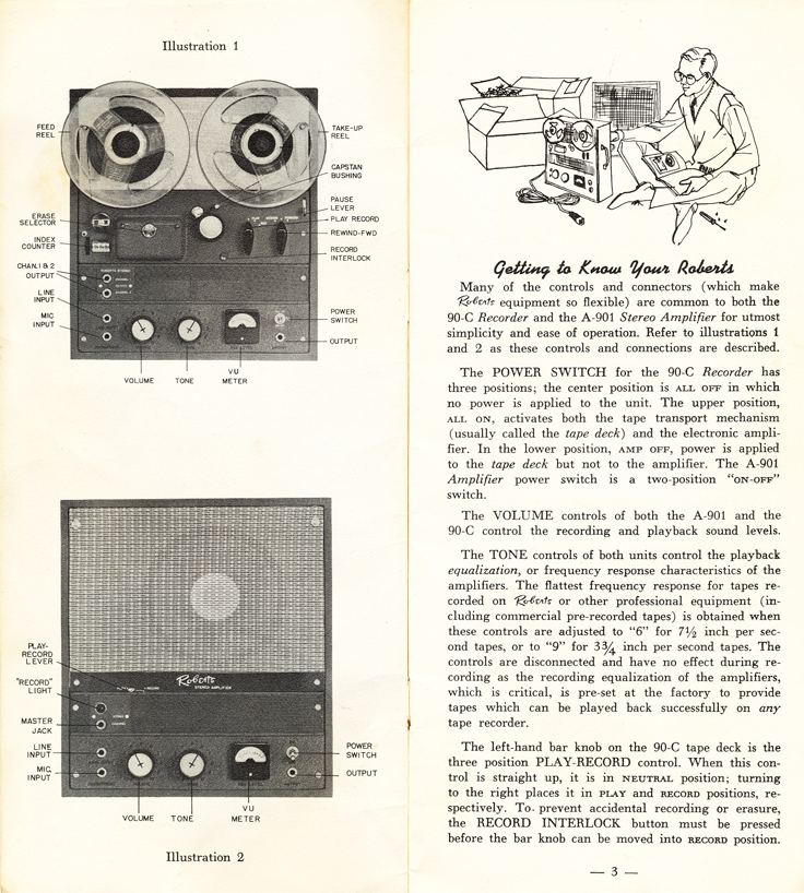 1958 Roberts 90C brochure in Reel2ReelTexas' vintage tape recorder collection page 2