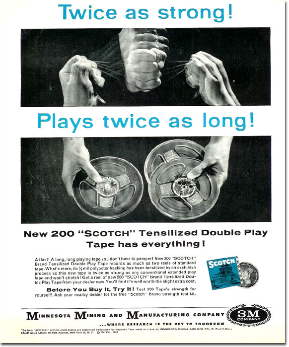 1958 ad for Scotch tape