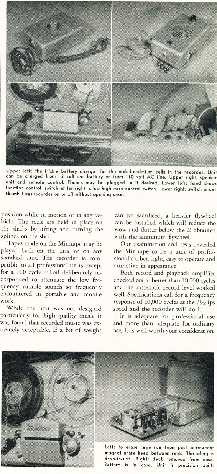 Part 2 of the 1958 review of the Stancil-Hoffman Minitape reel to reel tape recorder in Reel2ReelTexas.com's vintage recording collection