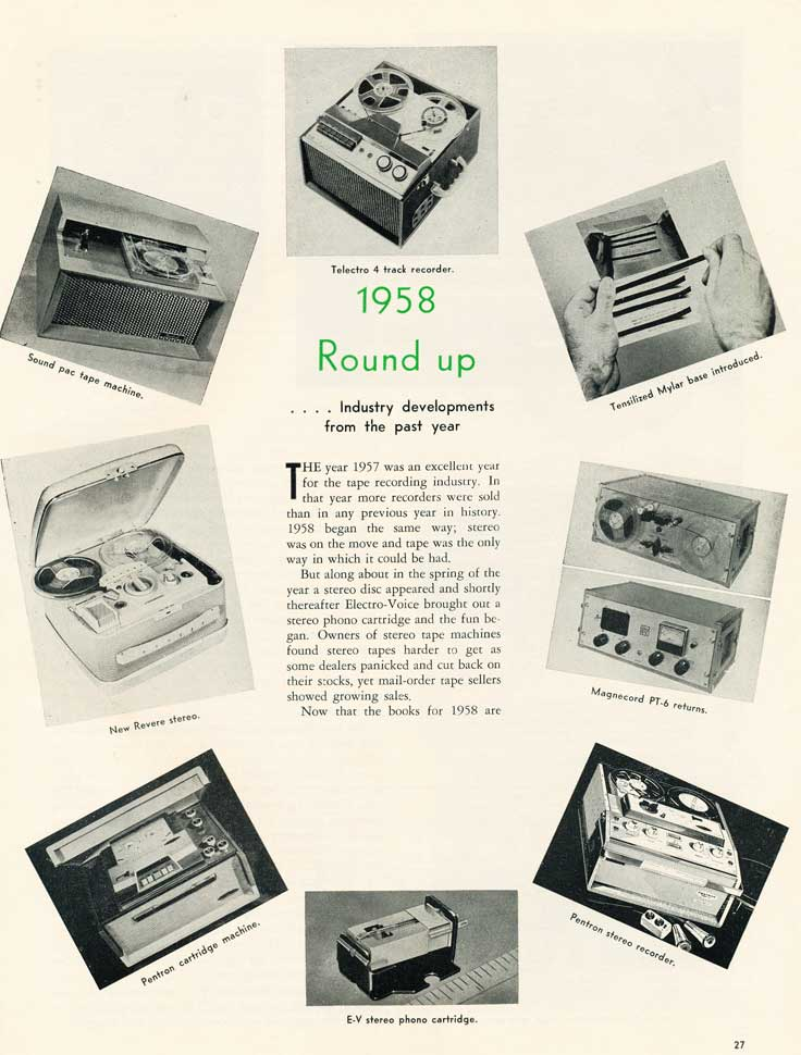 1958 Tape Recorder Roundup in Reel2ReelTexas.com's vintage recording collection