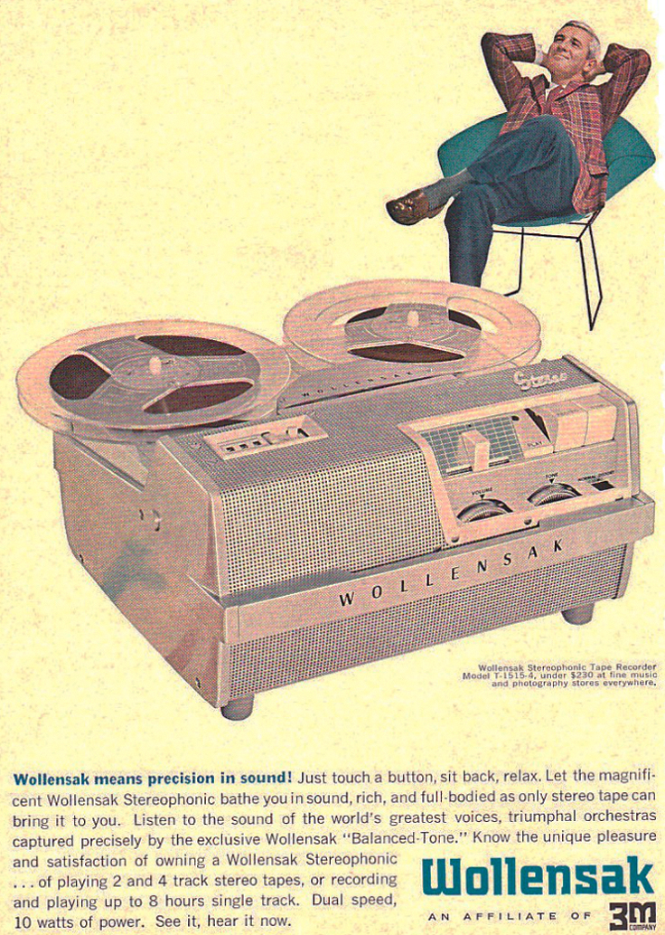 1958 Wollensak 1515 reel to reel tape recorder ad in PPI's reel to reel tape recorder collection