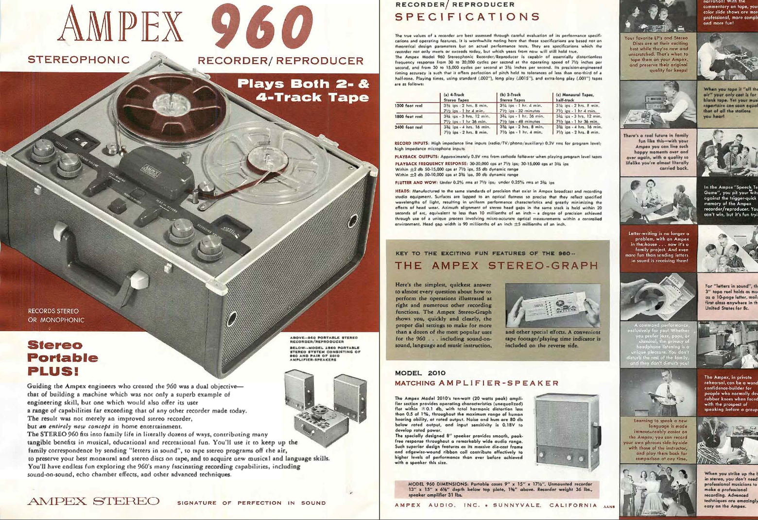 1959 Ad for Ampex 960 reel tape recorder in Reel2ReelTexas.com vintage tape recorder collection