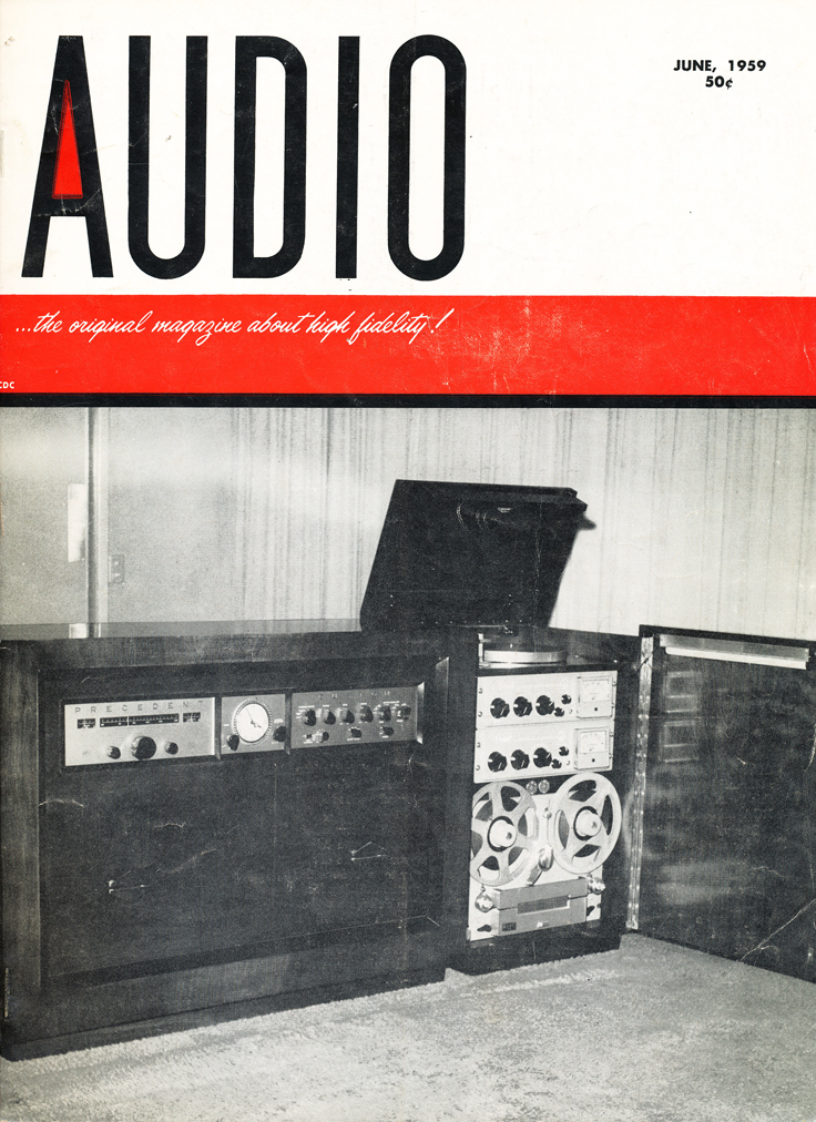 June 1959 cover of the Audio magazine