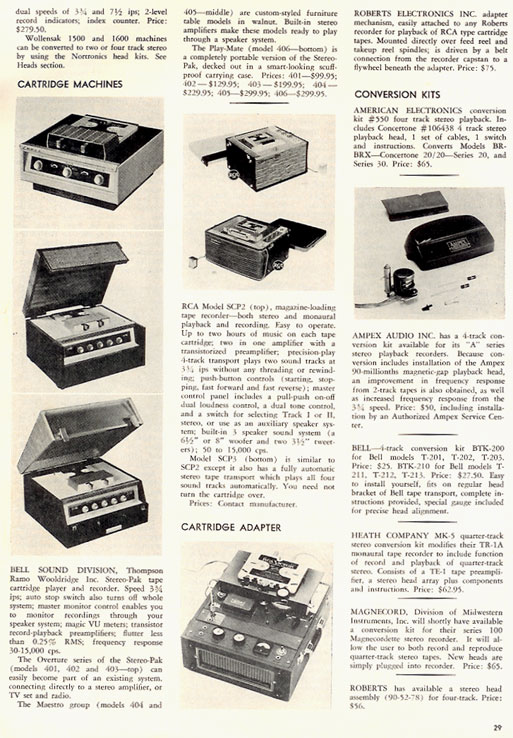 1959 Directory in the November 1959 Tape Recorder magazine in Reel2ReelTexas.com vintage tape recorder collection