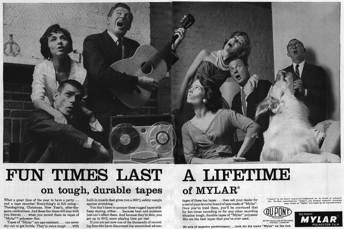 Another 1959 Ad for Myler recording tape in Reel2ReelTexas.com vintage tape recorder collection