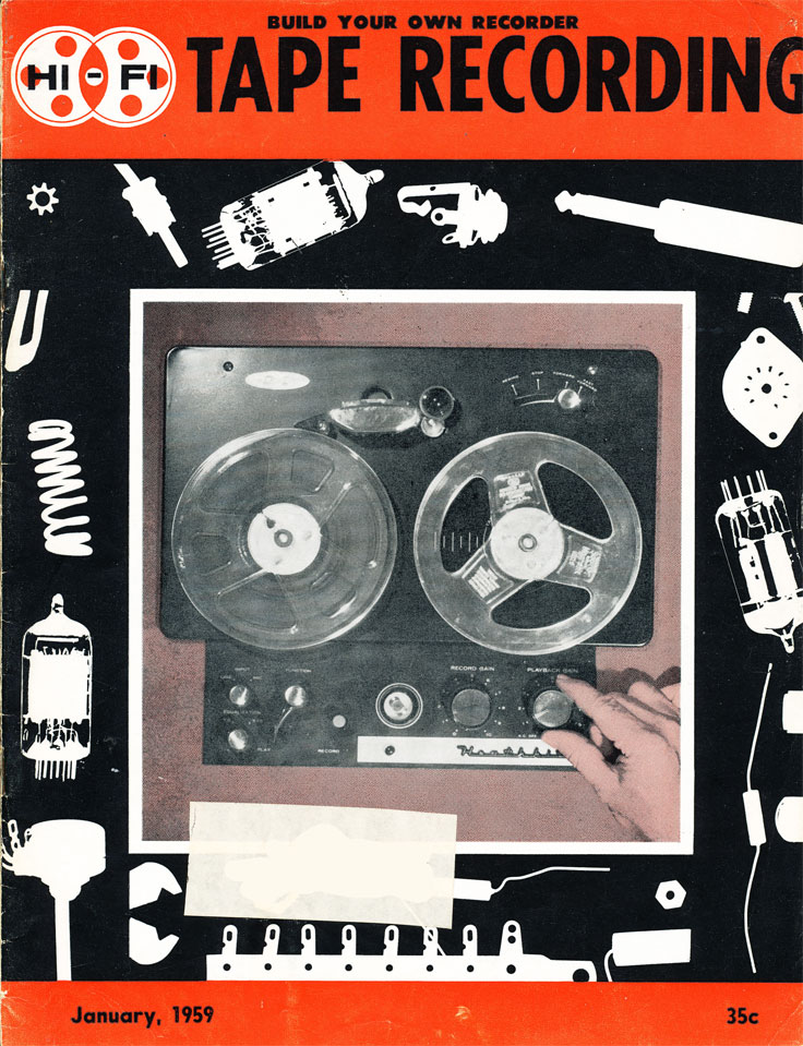 January 1959 cover of the Hi Fi Tape Recording magazine in Reel2ReelTexas.com's vintage recording collection