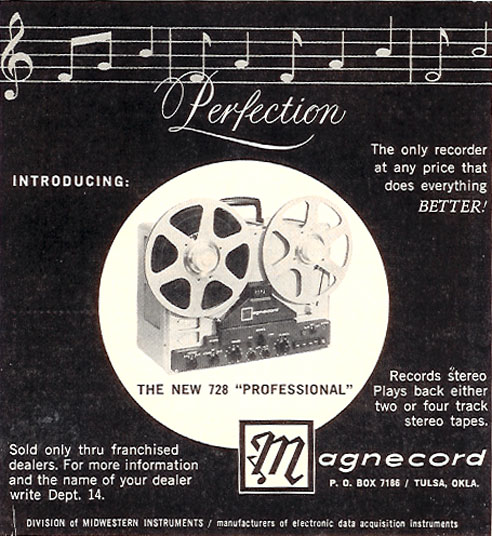 1959 Ad for the Magnecord reel tape recorder  tape in Reel2ReelTexas.com vintage tape recorder collection