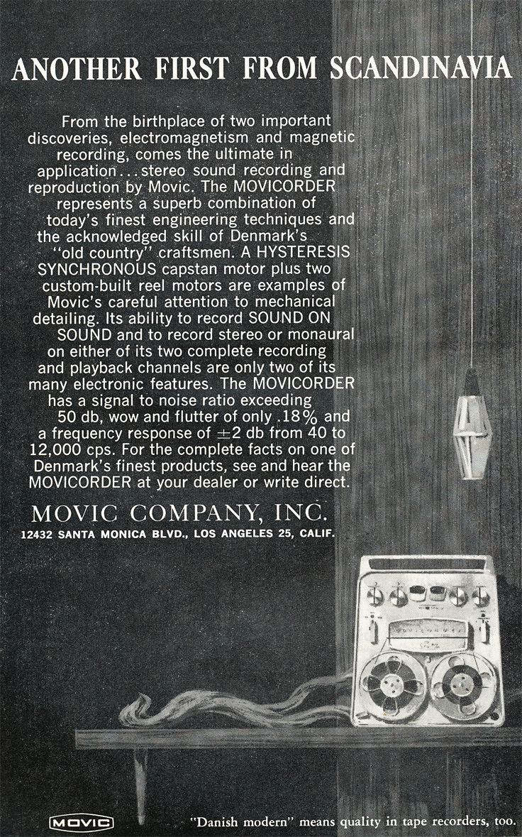1959 Ad for the Movic reel tape recorder  tape in Reel2ReelTexas.com vintage tape recorder collection