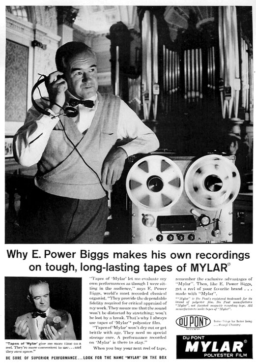 1959 Ad for Myler recording tape in Reel2ReelTexas.com vintage tape recorder collection