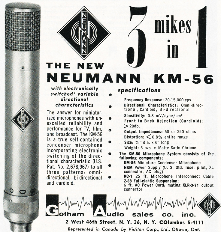 1959 ad for Neumann microphones in   Reel2ReelTexas.com's vintage recording collection