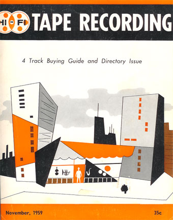 Cover of the November 1959 Tape Recording magazine in Reel2ReelTexas.com vintage tape recorder collection