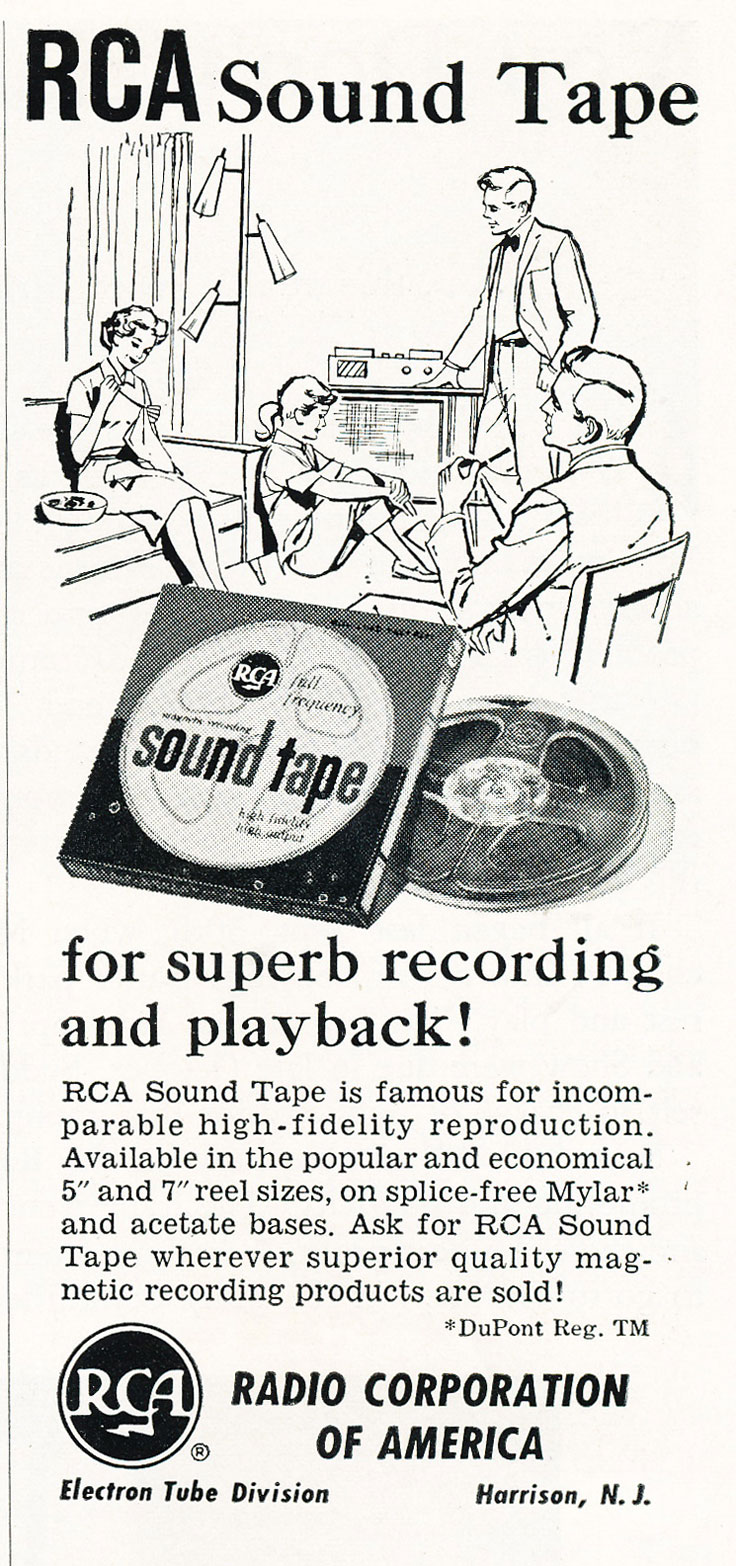 1959 ad for RCA reel to reel recording tape in Reel2ReelTexas' vintage recording collection