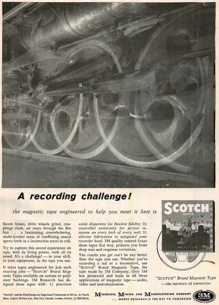 1959 Ad for Scotch recording tape in Reel2ReelTexas.com vintage tape recorder collection