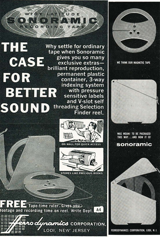 1959 ad for Sonomatic products in Reel2ReelTexas.com's vintage recording collection