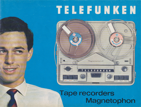 Telefunken Magnettophon brochure in Reel2ReelTexas.com's vintage reel tape recorder collection