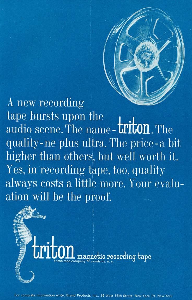 1959 ad for Triton reel to reel recording tape in   Reel2ReelTexas.com's vintage recording collection
