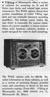 1959 review of the Viking reel to reel tape recorder console in Reel2ReelTexas.com's vintage recording collection