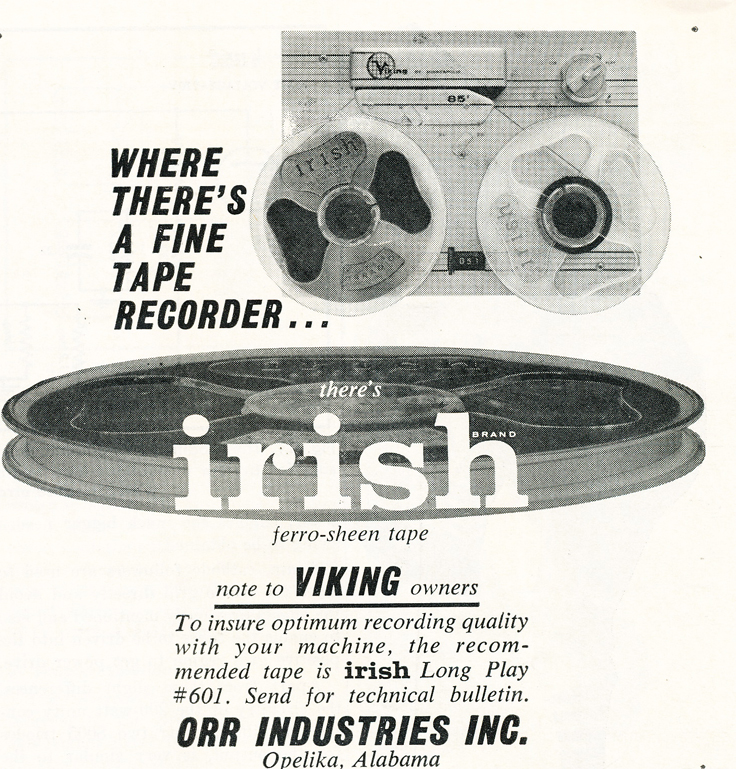 1959 Irish reel to reel recording tape featuring the Viking reel to reel  tape recorder in Reel2ReelTexas' vintage recording collection