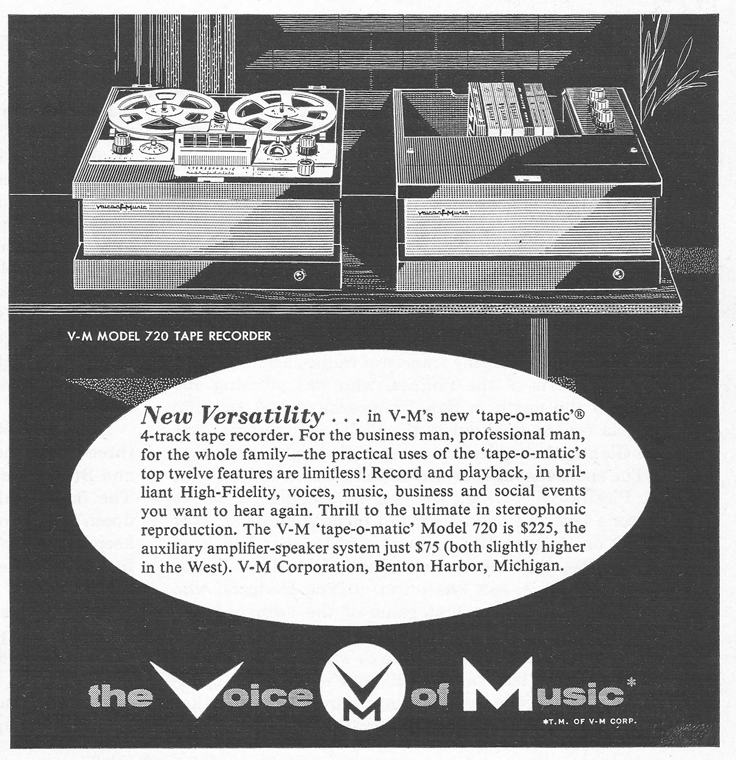 1959 Ad for the Voice of Music reel tape recorder in Reel2ReelTexas.com vintage tape recorder collection