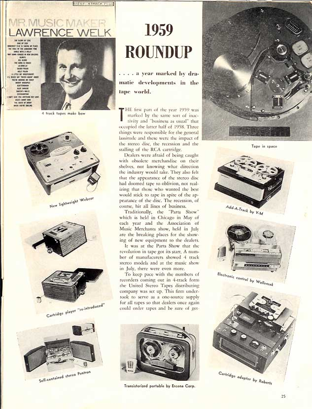 1959 tape recorder roundup in Reel2ReelTexas.com's vintage recording collection