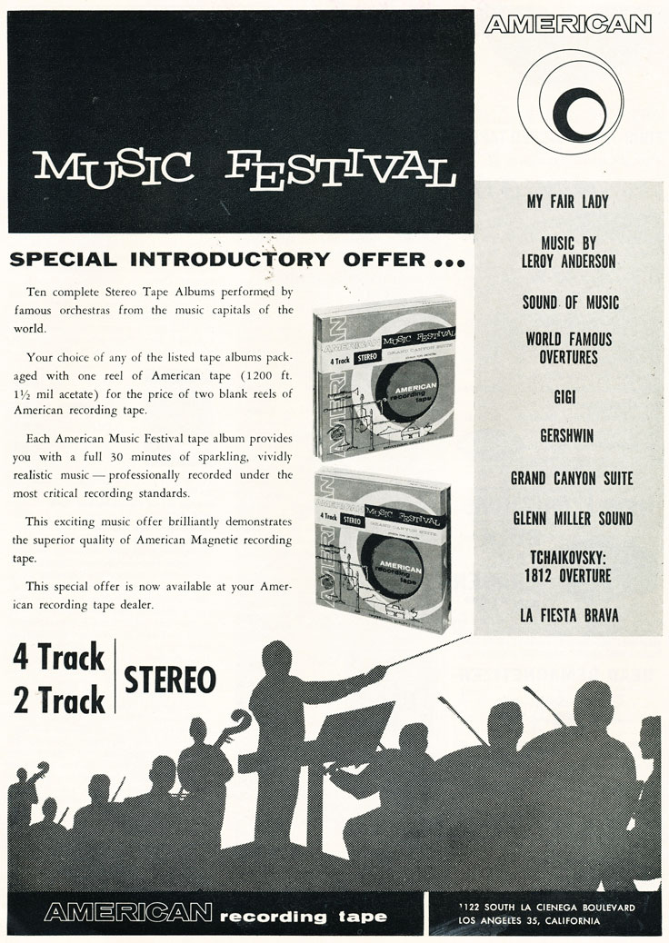 1960 ad for American reel to reel recording tape in Reel2ReelTexas.com's vintage recording collection