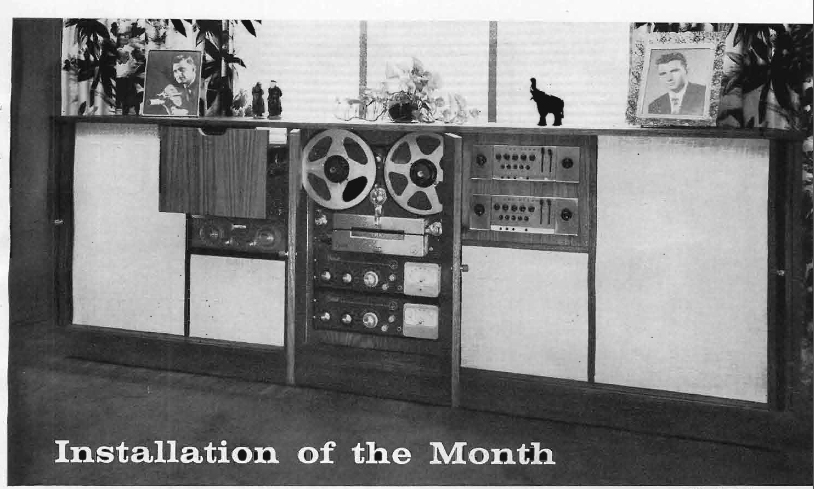 1960 custom installation of the Berlant Concertone reel to reel tape recorder in the Reel2ReelTexas.com's vintage recording collection