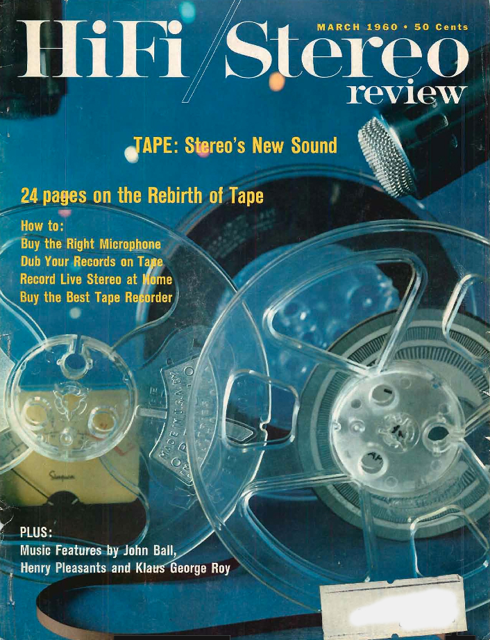 1960 cover of the HiFi Stereo Review in Reel2ReelTexas.com's vintage recording collection