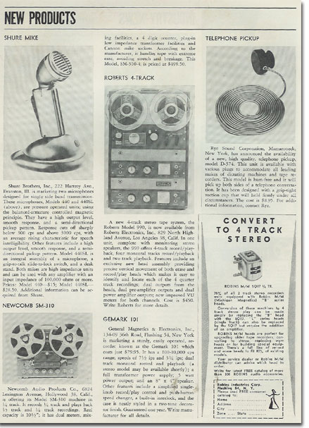 1960 new recording products