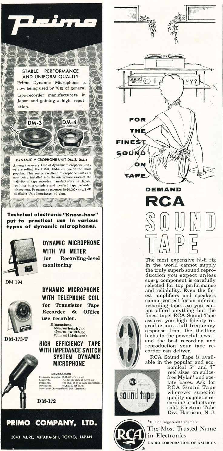 1960 ad for RCA reel to reel recording tape in Reel2ReelTexas.com's vintage recording collection