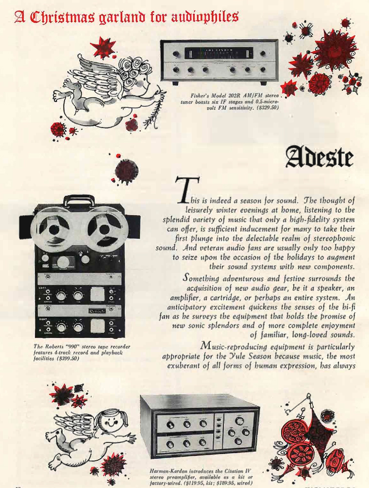 1960 gift ad for the Roberts 990 series reel tape recorders in Reel2ReelTexas.com's vintage recording collection