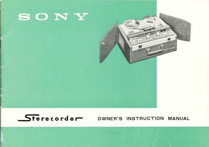 1961 Sony 300 reel tape recorder manual in Reel2ReelTexas.com's vintage reel tape recorder collection
