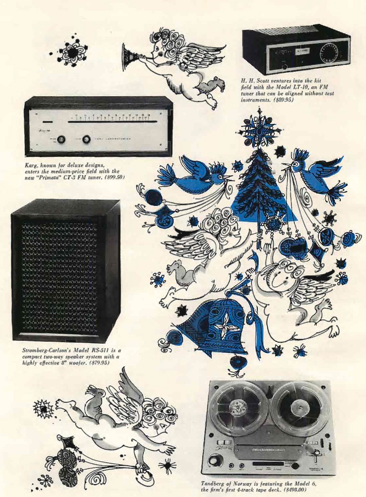 1960 gift ad for the Tandberg Model 6 reel tape recorders in Reel2ReelTexas.com's vintage recording collection