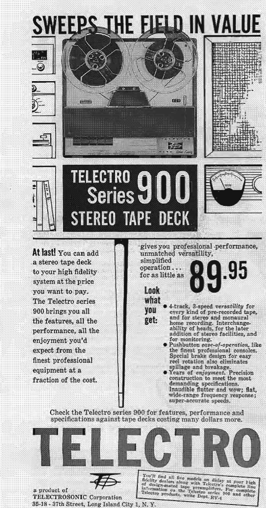 1960 ad for the Terado reel power converter in Reel2ReelTexas.com's vintage recording collection