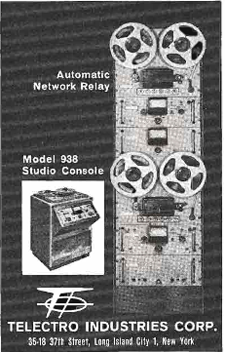 1969 ad for the TelectroModel938 in Reel2ReelTexas' vintage recording collection