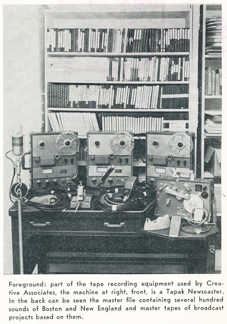 1961  recording equipment used to document New England