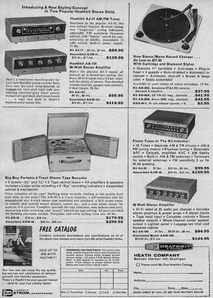 1961 ad for HeathKit reel to reel tape recorders in   Reel2ReelTexas.com's vintage recording collection